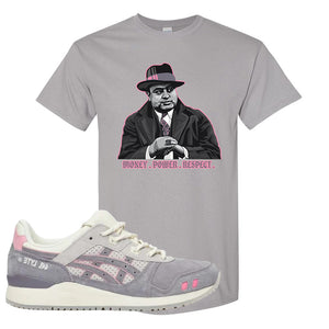 END x Asics Gel-Lyte III Grey And Pink T Shirt | Capone Illustration, Gravel