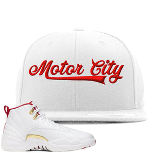 Air Jordan 12 FIBA Sneaker Hook Up Motor City white Snapback