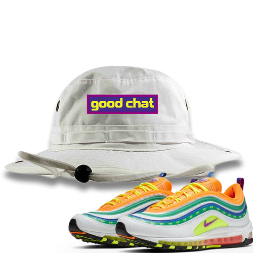 Air Max 97 Summer of Love Sneaker Match Good Chat White Bucket Hat