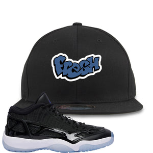 Air Jordan 11 Low IE Space Jam Sneaker Hook Up Fresh Black Snapback