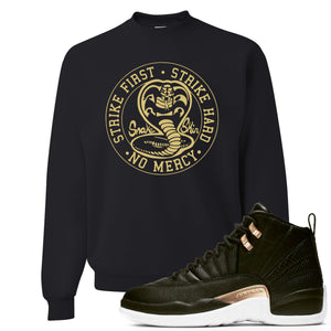 Jordan 12 WMNS Reptile Sneaker Hook Up Cobra Snake Black Sweater