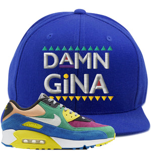 Nike Air Max 90 Viotech 2.0 Sneaker Hook Up Damn Gina Blue Snapback