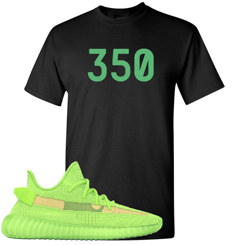 "Yeezy Boost 350 V2 Glow Sneaker Match ""350"" Black T-Shirt"