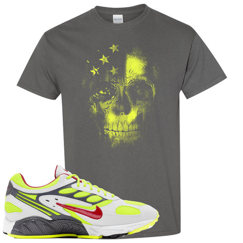 Nike Air Ghost Racer Neon Yellow Sneaker Match Skull Charcoal T-Shirt