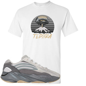 Adidas Yeezy Boost 700 V2 Tephra Sneaker Hook Up Tephra Volcano White T-Shirt