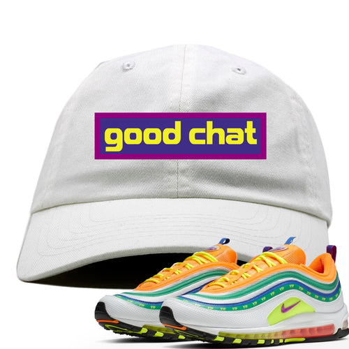 Air Max 97 Summer of Love Sneaker Match Good Chat White Dad Hat