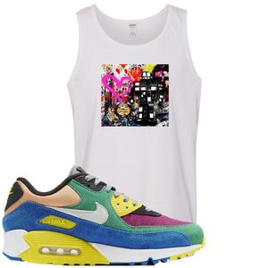 Nike Air Max 90 Viotech 2.0 Sneaker Hook Up Mister Brainwash White Mens Tank Top