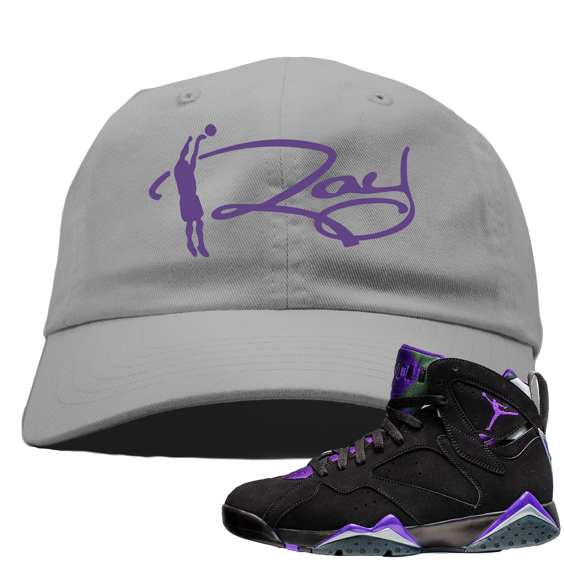 separation shoes bb333 f973a Air Jordan 7 Ray Allen Sneaker Match Ray Signature Gray Dad Hat