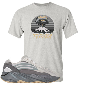 Adidas Yeezy Boost 700 V2 Tephra Sneaker Hook Up Tephra Volcano Sports Gray T-Shirt
