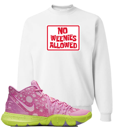 Spongebob Squarepants x Nike Kyrie 5 Patrick Star Sneaker Match No Weenies Allowed White Sweater
