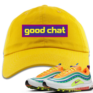Air Max 97 Summer of Love Sneaker Hook Up Good Chat Yellow Dad Hat