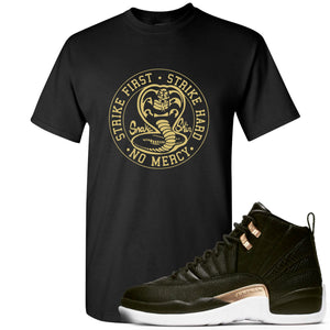 Jordan 12 WMNS Reptile Sneaker Hook Up Cobra Snake Black T-Shirt