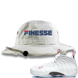 Nike WMNS Air Foamposite One USA Sneaker Hook Up Finesse White Bucket Hat