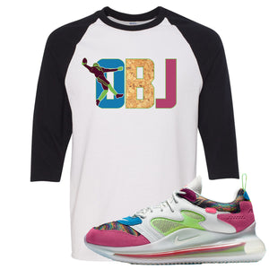 OBJ x Nike Air Max 720 Sneaker Hook Up OBJ White and Black Raglan T-Shirt