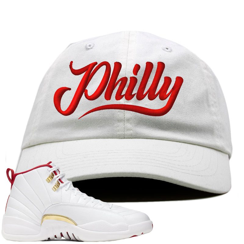 Air Jordan 12 FIBA Sneaker Hook Up Philly white Dad Hat