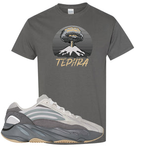 Adidas Yeezy Boost 700 V2 Tephra Sneaker Hook Up Tephra Volcano Dark Gray T-Shirt