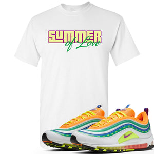 "Air Max 97 Summer of Love Sneaker Hook Up ""Summer of Love"" White T-Shirt"