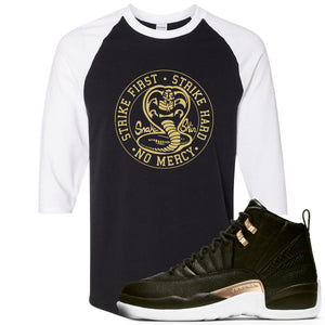 Jordan 12 WMNS Reptile Sneaker Hook Up Cobra Snake Black and White Ragalan T-Shirt