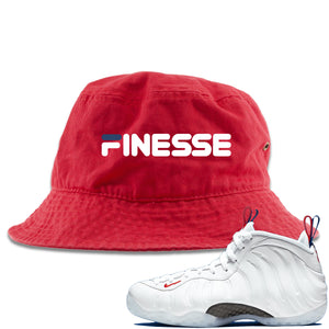 Nike WMNS Air Foamposite One USA Sneaker Hook Up Finesse Red Bucket Hat