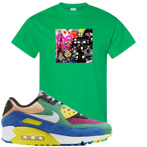 Nike Air Max 90 Viotech 2.0 Sneaker Hook Up Mister Brainwash Kelly Green T-Shirt