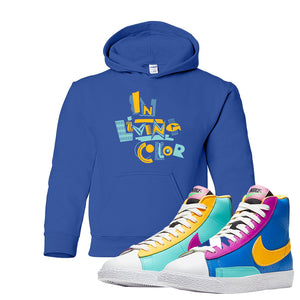 Blazer Mid Big Kids Hoodie | Royal, In Living Color