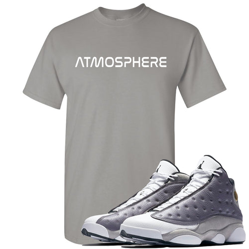 "Jordan 13 Atmosphere Grey ""Atmosphere"" Gravel Gray Shirt"