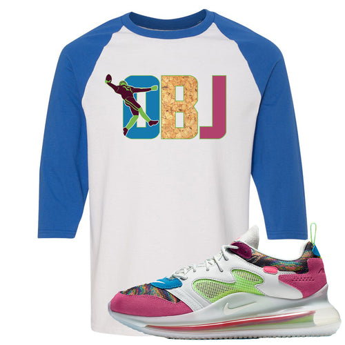OBJ x Nike Air Max 720 Sneaker Match OBJ White and Blue Raglan T-Shirt