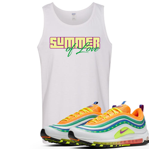 "Air Max 97 Summer of Love Sneaker Match ""Summer of Love"" White Mens Tank Top"