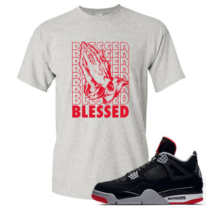 This white and red t-shirt will match great with your Air Jordan 4 Bred shoes