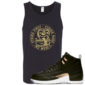 Jordan 12 WMNS Reptile Sneaker Hook Up Cobra Snake Black Mens Tank Top