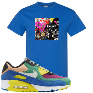 Nike Air Max 90 Viotech 2.0 Sneaker Hook Up Mister Brainwash Royal Blue T-Shirt