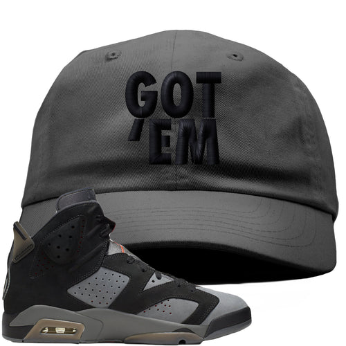 Air Jordan 6 PSG Sneaker Match Got Em Dark Gray Dad Hat
