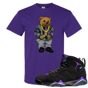 Air Jordan 7 Ray Allen Sneaker Hook Up Sweater Bear Purple T-Shirt