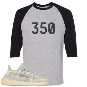 Adidas Yeezy Boost 350 v2 Lundmark Sneaker Hook Up 350 Sports Grey and Black Raglan T-Shirt