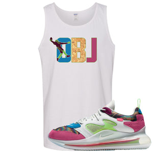 OBJ x Nike Air Max 720 Sneaker Hook Up OBJ White Mens Tank Top
