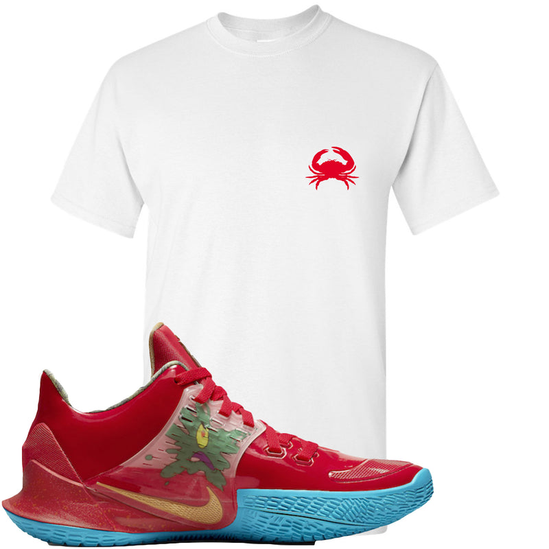 Nike Kyrie Low 2 Mr Krabs Sneaker Hook Up Crab White T-Shirt