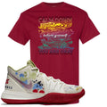 Bandulu x Nike Kyrie 5 Sneaker Match Calm Down Cardinal Red T-Shirt