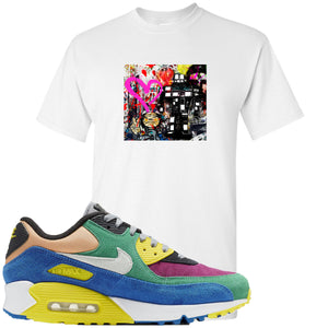 Nike Air Max 90 Viotech 2.0 Sneaker Hook Up Mister Brainwash White T-Shirt
