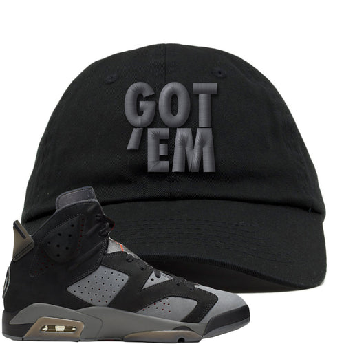 Air Jordan 6 PSG Sneaker Match Got Em Black Dad Hat