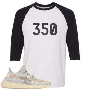Adidas Yeezy Boost 350 v2 Lundmark Sneaker Hook Up 350 White and Black Raglan T-Shirt