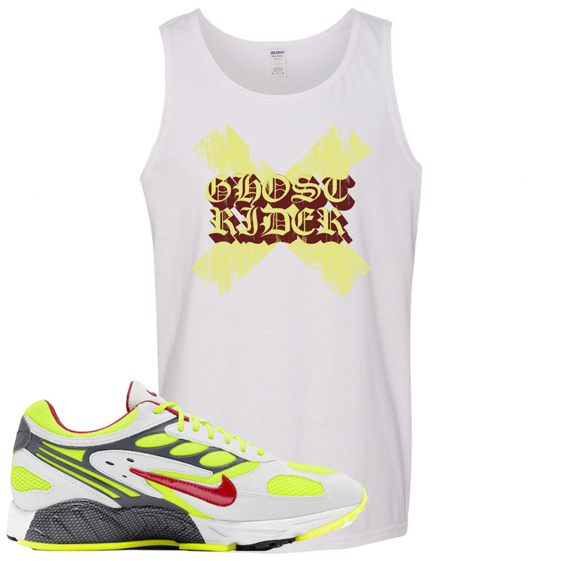 Nike Air Ghost Racer Neon Yellow Sneaker Hook Up Ghost X Rider White Mens Tank Top