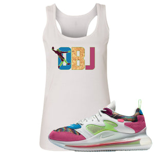 OBJ x Nike Air Max 720 Sneaker Hook Up OBJ White Womens Tank Top