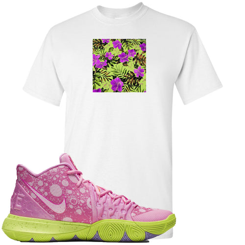 Spongebob Squarepants x Nike Kyrie 5 Patrick Star Sneaker Match Hawaiian Pattern White T-Shirt
