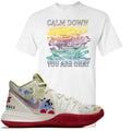 Bandulu x Nike Kyrie 5 Sneaker Hook Up Calm Down White T-Shirt