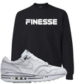 Nike Air Max 1 Sketch to Shelf White Sneaker Hook Up Finesse Black Sweater