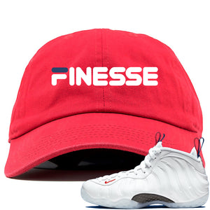 Nike WMNS Air Foamposite One USA Sneaker Hook Up Finesse Red Dad Hat