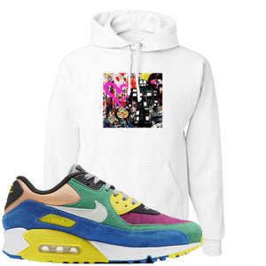 Nike Air Max 90 Viotech 2.0 Sneaker Hook Up Mister Brainwash White Hoodie