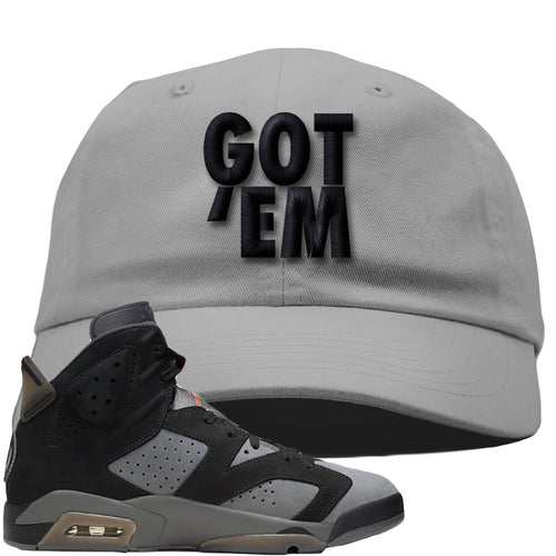 Air Jordan 6 PSG Sneaker Match Got Em Light Gray Dad Hat