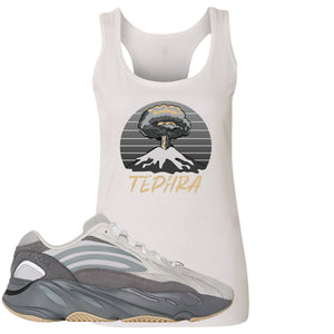 Adidas Yeezy Boost 700 V2 Tephra Sneaker Hook Up Tephra Volcano White Womens Tank Top