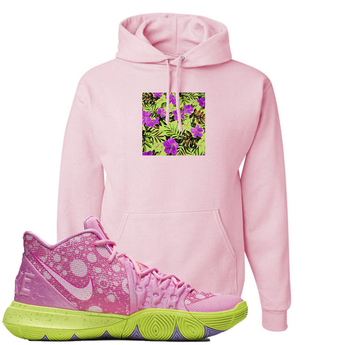 Spongebob Squarepants x Nike Kyrie 5 Patrick Star Sneaker Match Hawaiian Pattern Light Pink Hoodie